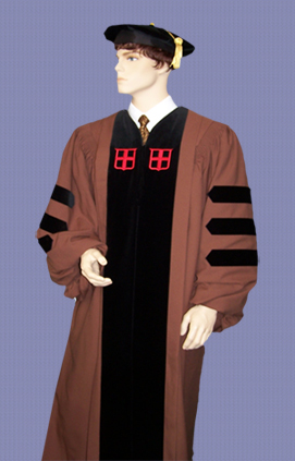 Brown University doctoral gown