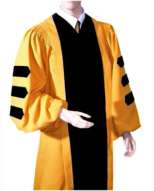 Johns Hopkines doctoral gown