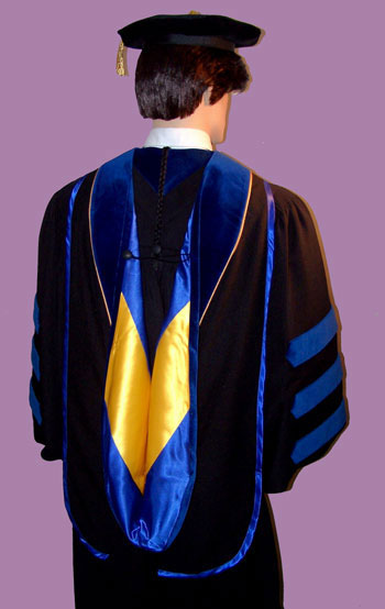 Academic hoods such as doctoral hood by University Caps and Gowns