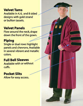 custom made doctoral regalia