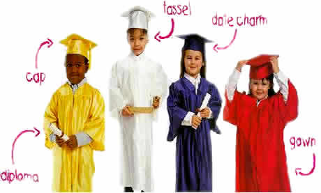 kindergarten caps and gowns